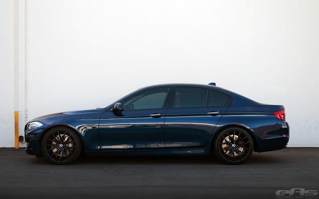 LeMans Blue F10 535i on H&R Sport Lowering Springs | BMW ...