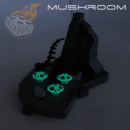 Mushroom - Glow in the Dark (Turquoise Spots)