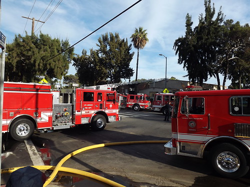Church fire in Crenshaw area, Los Angeles
