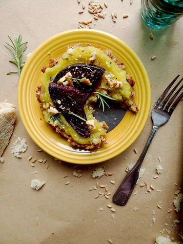 farro + sweet dumpling squash tartlettes
