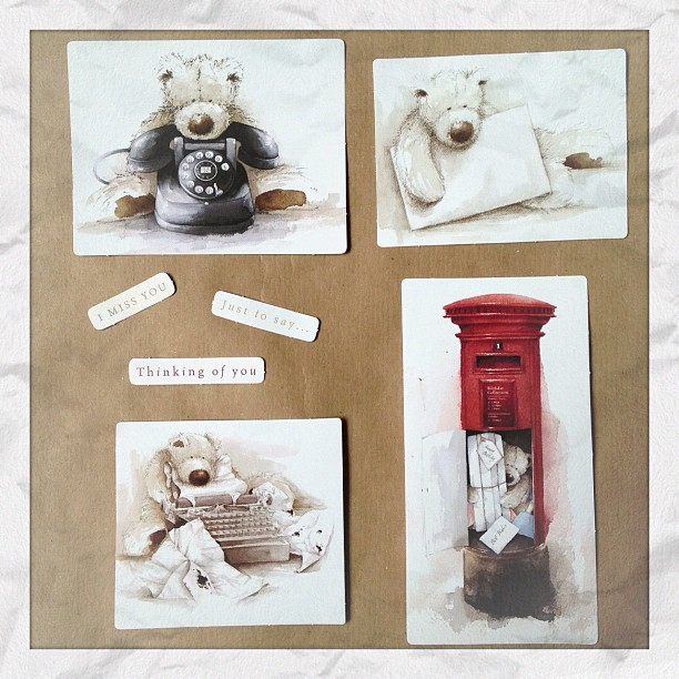I love #wellingtonbear and have only been looking at the items until Friday when I decided to buy this #decoupage pack. #communication the old fashioned way :). I now need to create something with these for my blog