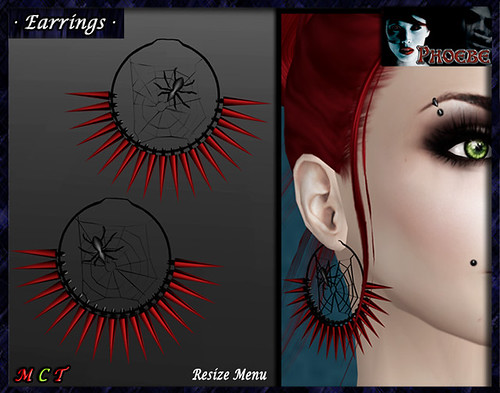 *P* The Spider Mesh Earrings