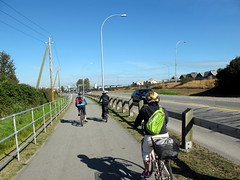 Biking Along Westminster Highway
