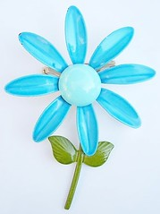 Vintage Teal Flower Enamel Pin38