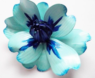 Vintage Teal Flower Enamel Pin37