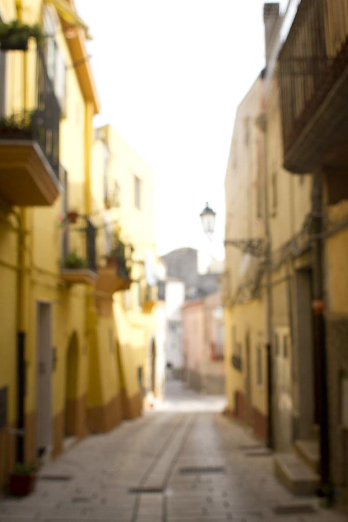 Italian cobblestone streets of Irsina in Basilicata, Italy 1