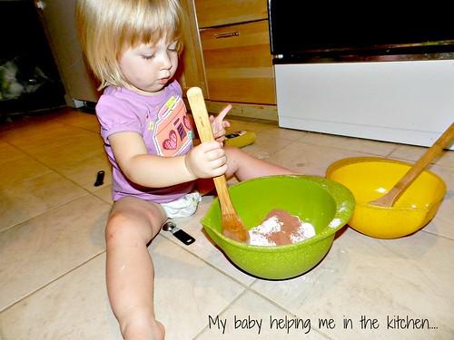 Maddie in the kitchen