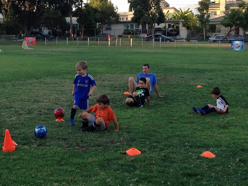 Crab game at soccer practice
