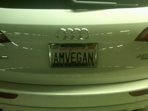 license plate vegan