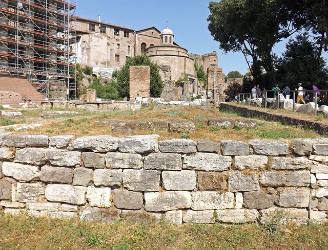 The Regia in the Forum Romanum, July 2012