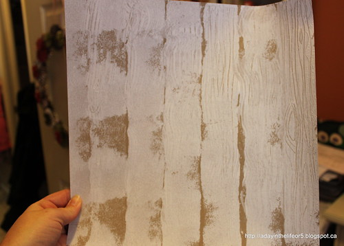 My home made wood grain patterned paper