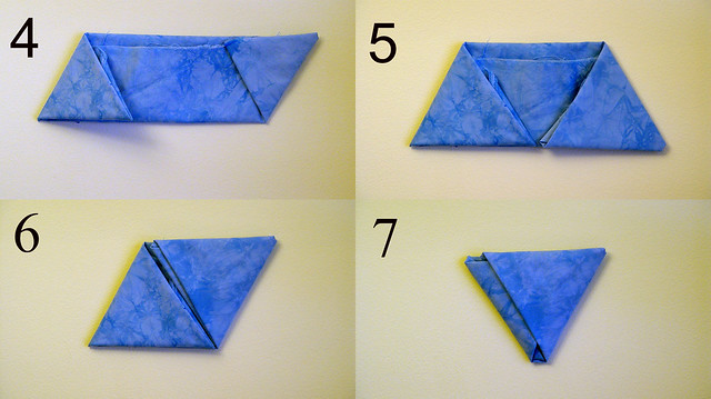 folding fat quarters, equilateral 2