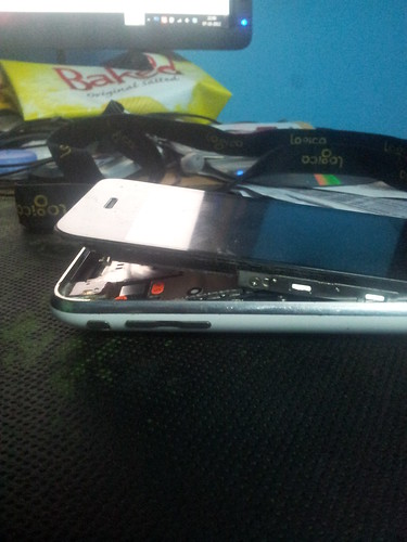 iPhone 3GS after it's battery expansion
