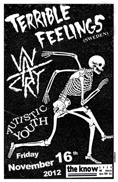 11/16/12 TerribleFeelings/Warcry/AutisticYouth