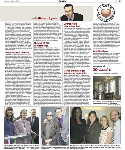Limerick Chronicle Column 9 Oct 2012