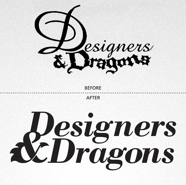 Designers & Dragons Before After