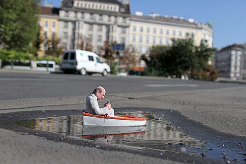 Blk River festival, Vienna, Austria by Isaac Cordal