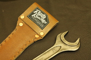Cropped image of Leather Sheath and Wrench Knife