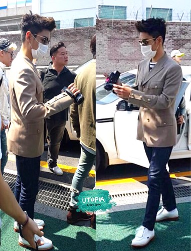Big Bang - Jeju Airport - 19may2015 - TOP - Utopia - 03