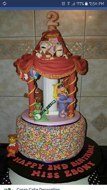 Muppets Carousel Cake by Samantha Ibrahim of Coran Cake Decorating