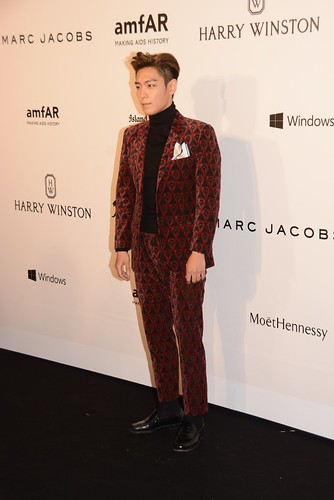 TOP - amfAR Charity Event - Red Carpet - 14mar2015 - Facepop - 01