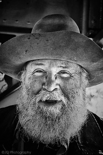 "Bill a real gold prospector I met on the steam train who lives in a teepee in Durango Colorado by a river and behind a mountain.Someone asked him,""Are you rich?""His response was,""I already am rich living here.""Good answer Bill."