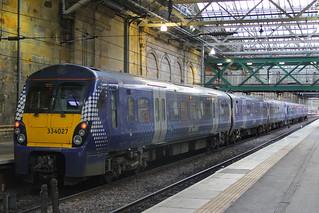 334027 & 334035, Edinburgh Waverley, March 1st 2016