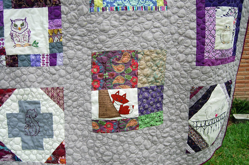 Embroiderbee Quilt - finished 8/25/2012