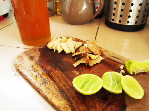 All the things for Ginger Lemon Honey