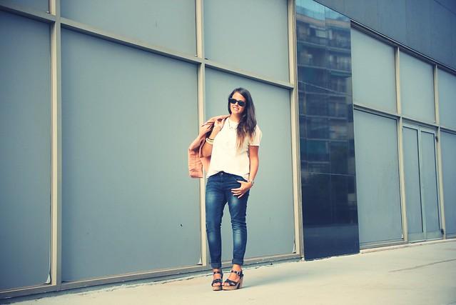 Look jeans + Cazadora nude