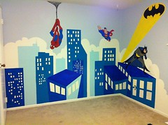The world 39 s newest photos of mural and spiderman flickr for Batman cityscape wall mural