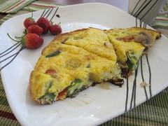 produce(0.0), dessert(0.0), cucurbita(0.0), meal(1.0), breakfast(1.0), vegetable(1.0), frittata(1.0), baked goods(1.0), food(1.0), dish(1.0), cuisine(1.0), quiche(1.0), tortilla de patatas(1.0), omelette(1.0),