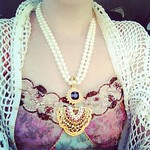 Killing time at Miracle Mile before appointment. Wearing Nolan Miller necklace.
