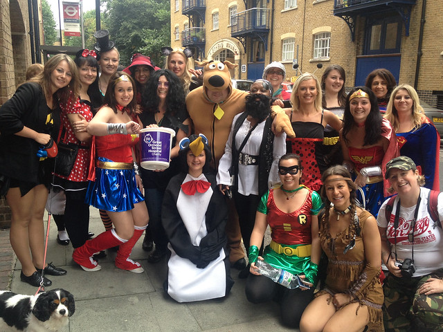 Fundraising for Great Ormond Street in Wapping High Street