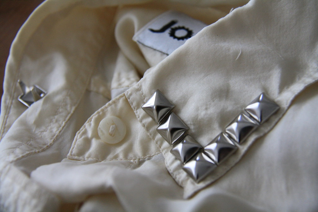 sewing saturday - studded blouse diy