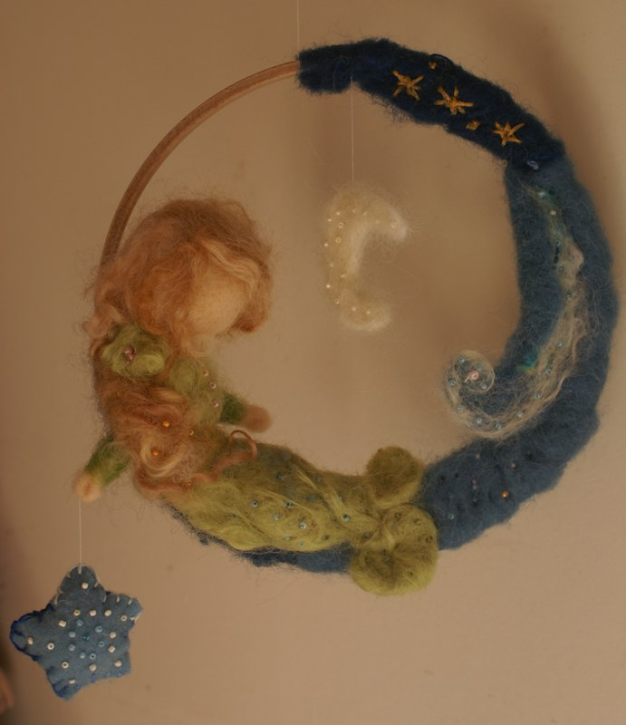 mermaid felt mobile