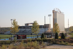 Transformation of UIU Football Stadium - Friday, Aug. 31, 2012
