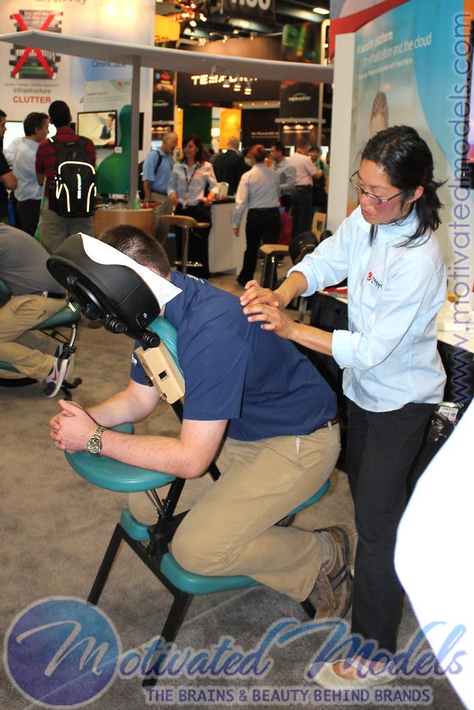 VMWorld massage, licensed massage therapist, trade show massage therapist, trade show masseuss, trade show chair massage