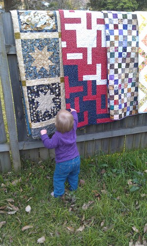 Quilts and small curious children