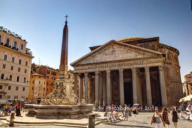 The Pantheon and the Obelisk