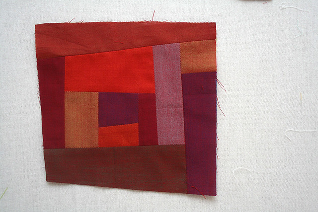 Improv block with Oakshott Rubies