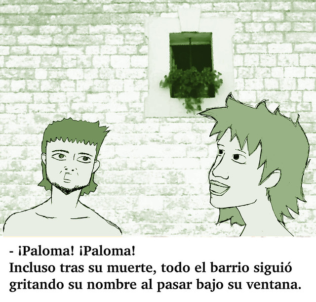 "Microcuento ""¡Paloma! ¡Paloma!"" (en verde)"
