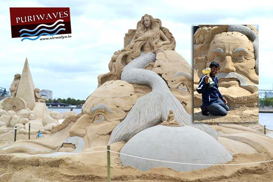 Sudarsan Pattnaik won Public prize Copenhagen International sand sculpture