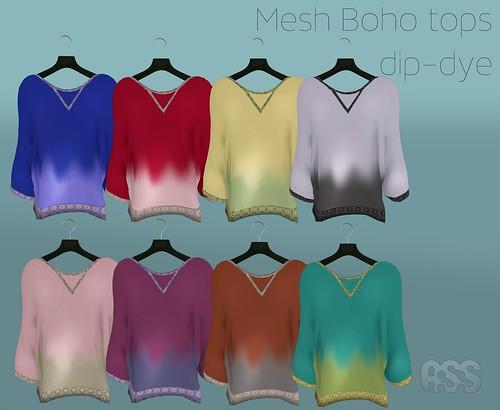 A:S:S Mesh boho tops