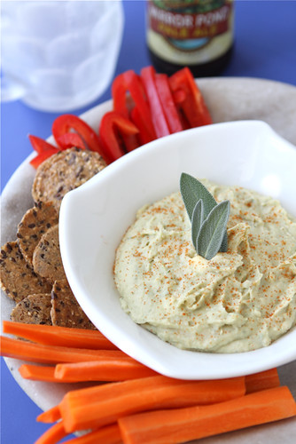 White Bean Dip Recipe with Parmesan Cheese & Sage
