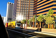 Light-rail and high-rises, Phoenix Arizona