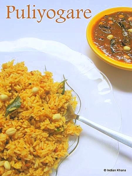 Puliyogare/Tamarind Rice