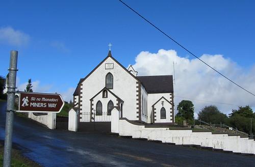 ireland white church sign catholic chapel roscommon immaculateconception arigna minersway
