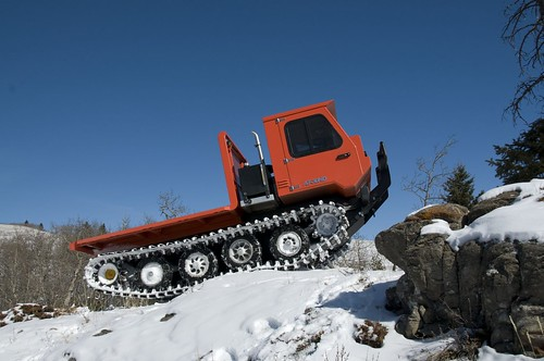 all track tracked vehicle in mountains