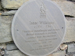 Photo of Isaac Wilkinson slate plaque